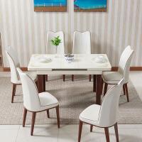 多功能餐桌可伸缩带电磁炉北欧小户型用吃饭折叠钢化玻璃椅子组合