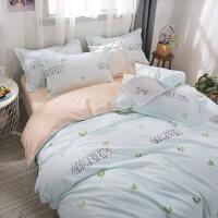 20191112060151149高中生学生宿舍床上三件套少女心单人床单被套四件套单人床冰丝