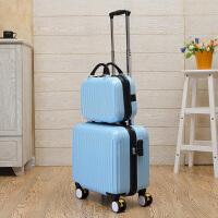 镜面PC拉杆箱女行李箱旅行子母箱包万向轮16寸17寸18寸登机箱硬箱 18寸