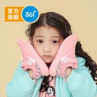 【开学季到手价:87.6】361度童鞋女童跑鞋小童2019年冬季新品便捷魔术贴休闲运动鞋N81944521