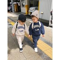 宝宝套装男童装男童秋装潮儿童长袖卫衣两件套