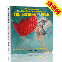 The little mouse the red ripe strawberry 英文原版纸板书 廖彩杏书单 Audr