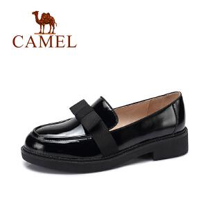 camel/骆驼女鞋 秋季新款简约百搭套脚单鞋经典复古圆头蝴蝶结女鞋
