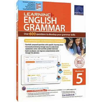 SAP Learning Grammar Workbook 5 小学五年级英语语法练习册在线测试版 新加坡教辅 新亚出版社学习系列 11岁 儿童英文原版图书