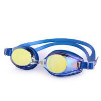 男女电镀平光游泳眼镜游泳镜防水防雾泳镜