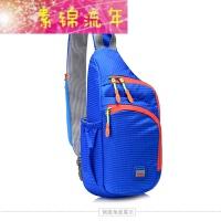 新品韩版儿童男童休闲斜挎包小孩胸包单肩包小学生背包挎包旅游小包潮 包 蓝色