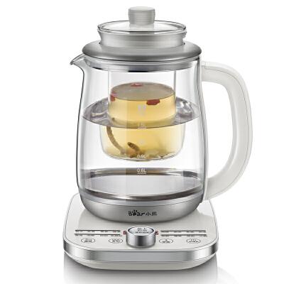 小熊(Bear)养生壶多功能加厚玻璃 全自动煎药壶煮茶壶茶器 YSH-A18U216大功能 旋钮式操控 实时温度显示 1.8升