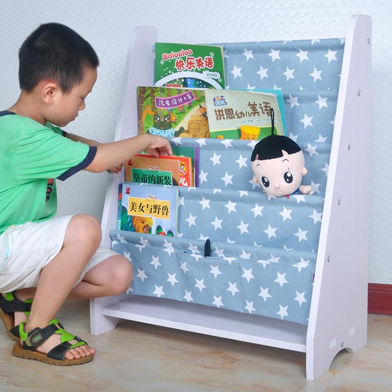 儿童收纳 简易落地多层幼儿园创意书本置物收纳架子宝宝绘本储物整理书柜儿童家具 偏远及部分地区不发货