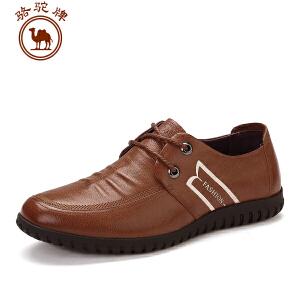 骆驼牌休闲皮鞋 舒适耐磨系带男鞋时尚百搭男士低帮鞋商务鞋