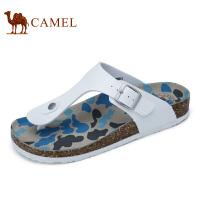 camel骆驼男鞋 夏季新品 凉鞋夹脚沙滩迷彩时尚休闲人字拖鞋