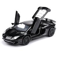 儿童玩具车仿真车模声光小汽车尾翼跑车LP750合金车模型回力车