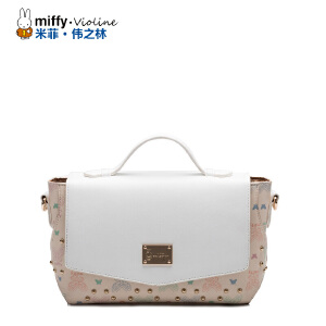 Miffy米菲2016新款铆钉单肩包女士包包韩版潮女包单肩斜跨手提包