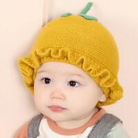 新生儿帽子秋冬0-3-6-12个月可爱男女宝宝保暖帽初生婴儿毛线帽子
