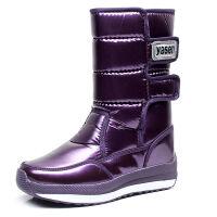 冬季雪地靴女中筒防水防滑加厚加绒女款短筒学生靴子保暖棉鞋