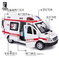 110警车车模小汽车男孩汽车模型儿童玩具车仿真120救护车玩具合金