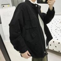 工装外套男冬季韩版潮流ins网红同款潮牌加棉加厚秋装港风上衣服