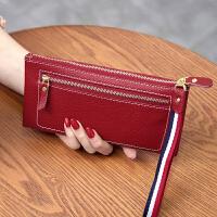 新款欧美女士钱包女长款拉链超薄男钱夹手拿包软