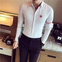 秋冬长袖长袖衬衫衬衫男士免烫处理日常秋季韩版衬衣修身纯色