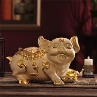 小金猪存钱罐小猪摆件客厅储钱罐大号猪聚宝盆储蓄罐硬币