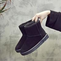 2018冬季新款加绒保暖雪地靴女学生短筒棉靴韩版马丁短靴百搭棉鞋 36 女款