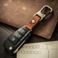 汽车遥控器钥匙扣挂件创意简约男士腰挂锁匙链圈环挂饰