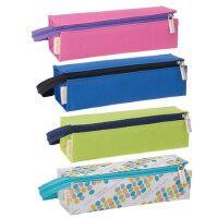 日本国誉 大容量男女学生文具笔盒 可展开手提帆布笔袋铅笔收纳包