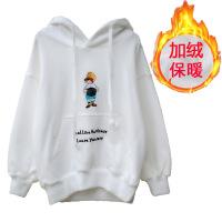№【2019新款】冬天儿童穿的男童卫衣加绒儿童连帽加厚外套宝宝白色上衣潮童装女