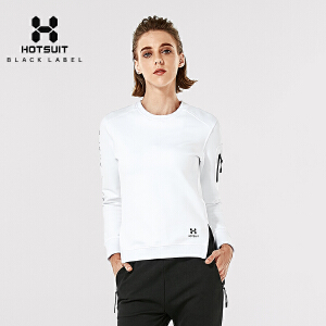 美国HOTSUIT女士卫衣纯色套头衫秋季休闲圆领运动时尚卫衣6778070