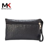莫尔克(MERKEL) 2018新款女手包石头纹时尚休闲零钱包手拿包手机包手腕包