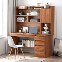 【限时直降3折】电脑桌台式家用简易书桌书柜一体学生写字单人小型桌子卧室办公桌