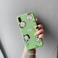 趣味可爱史努比5x抹茶绿小米9手机壳8se青春版软壳mix2s/note3/6x 小米9 史努比和朋友