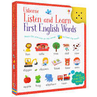 Usborne Listen and Learn First English Words 幼儿英语单词启蒙卡片书 触按