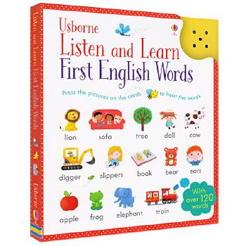 Usborne Listen and Learn First English Words 幼儿英语单词启蒙卡片书 触按发声点读书 儿童英文原版图书