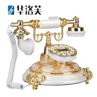 家里的装饰品新款欧式电话机座机电话机客厅时尚复古电话机家用仿古电话机创意古董电话座机J 背光