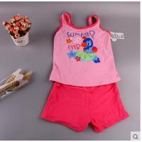 新款儿童泳衣女童装可爱女孩泡温泉泳装吊带式平角裤游泳衣分体套 可礼品卡支付