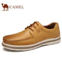 camel 骆驼男鞋 秋季新品低帮鞋真皮时尚耐磨日常休闲皮鞋