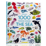 英文原版1000 Things Under the Sea海洋生物 儿童早教益智科普百科课外读物书籍 启蒙英语单词知识