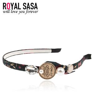 皇家莎莎RoyalSaSa韩版细发箍头箍韩国水钻简约甜美发卡压发头饰发饰发带饰品HFS509402