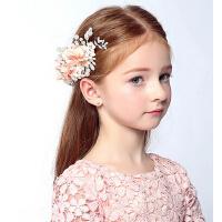 新款时尚儿童花朵发夹发饰 儿童婚纱礼服裙女童头饰配饰