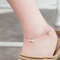 珍珠脚链女简约淡水珍珠足饰配饰