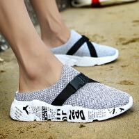 洞洞鞋男夏季潮流韩版学生沙滩鞋耐穿软底懒人拖鞋外穿包头凉拖鞋夏季百搭鞋