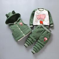 男童套装儿童秋冬装宝宝连帽卫衣三件套潮