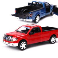美致仿真皮卡车 合金模型儿童玩具声光回力小汽车福特车模礼物