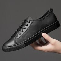 男鞋夏季薄款透气舒适布鞋男韩版百搭休闲鞋潮流时尚皮布板鞋46码夏季百搭鞋