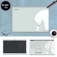 华硕FL5900UQ笔记本贴膜W50J W419L保护膜贴纸14 15免裁剪外壳膜 SC-928 三面+键盘贴