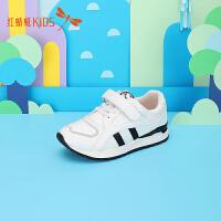 【1件2折后:44.6元】红蜻蜓男童鞋儿童男童鞋子保暖大童慢跑鞋小童鞋运动鞋