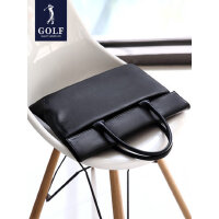 高尔夫真皮公文包男商务简约男士包包手提包手拿休闲软牛皮电脑包