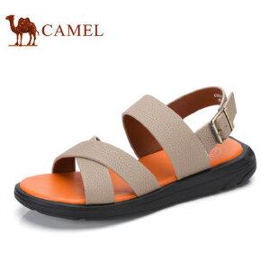 camel骆驼男鞋  夏季新品 男凉鞋休闲男士凉鞋男真皮软底沙滩鞋