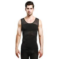 男塑身衣塑型衣收腹背心束胸塑胸提背束腰薄款