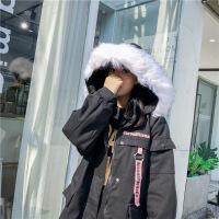 冬季新款棉袄外套女加厚连帽大毛领工装女学生韩版宽松bf棉衣